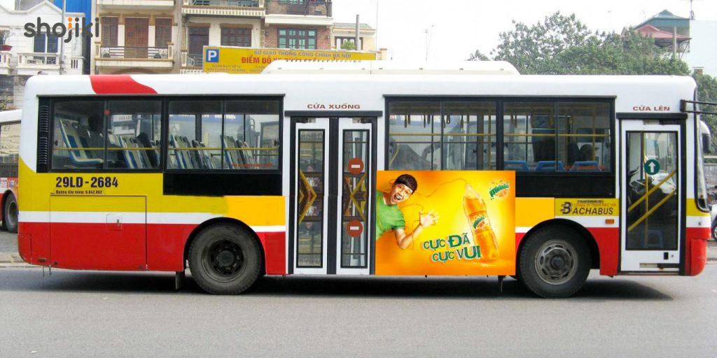 Với chi phí quảng cáo trên thân xe buýt với mức giá dao động từ 40.000.000/xe/năm – 80.000.000/xe/năm.